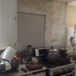 Before image of kitchen remodel from Majestic Construction OK