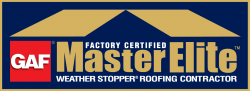 Logo for Majestic's GAF Certification as certified roofing contractors in Oklahoma City