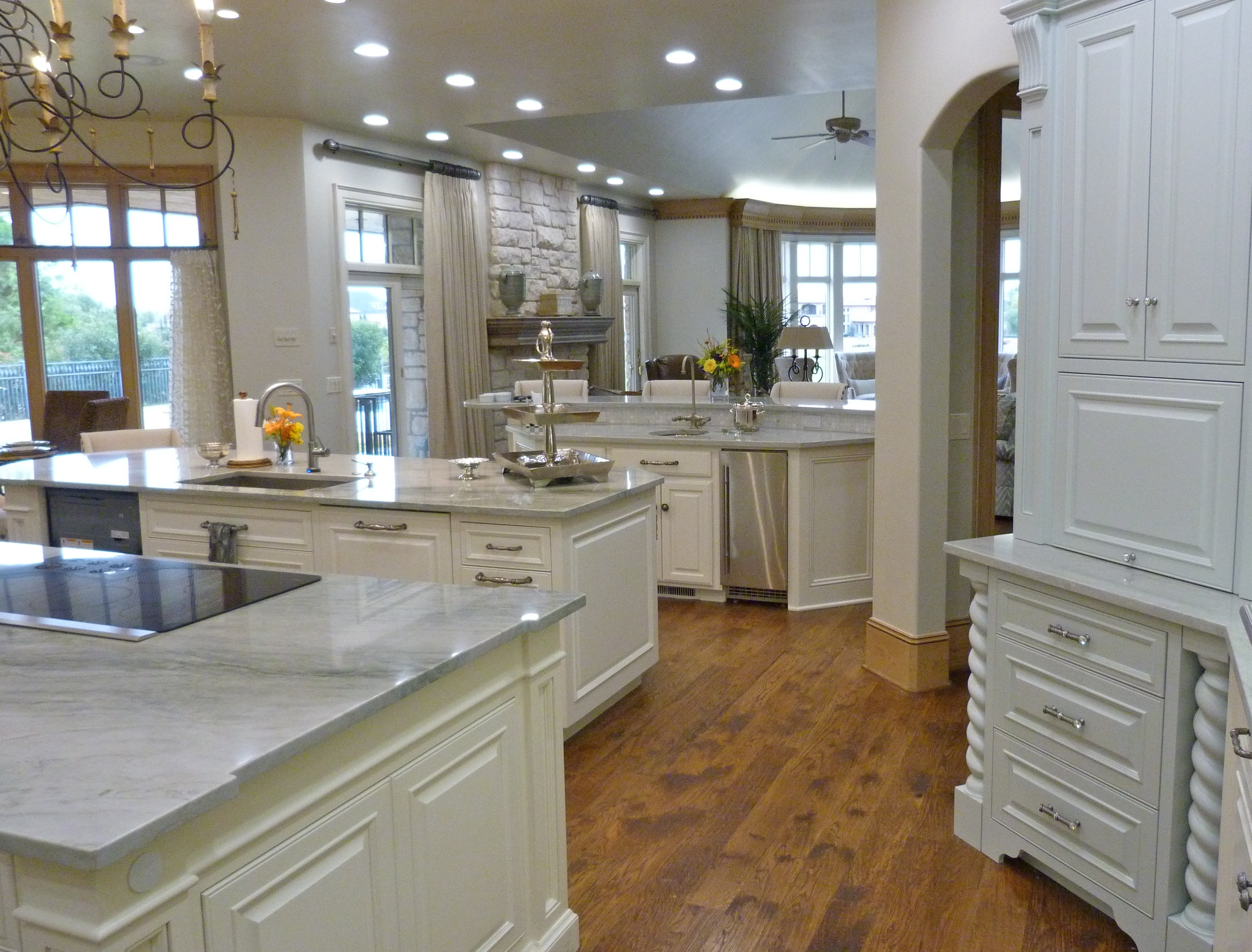majesticconstructionok kitchen remodel okc Huge kitchen with three islands from Majestic Construction remodel