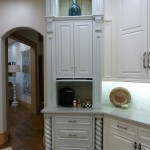 White kitchen cabinets that go to the ceiling from Majestic Construction kitchen remodel