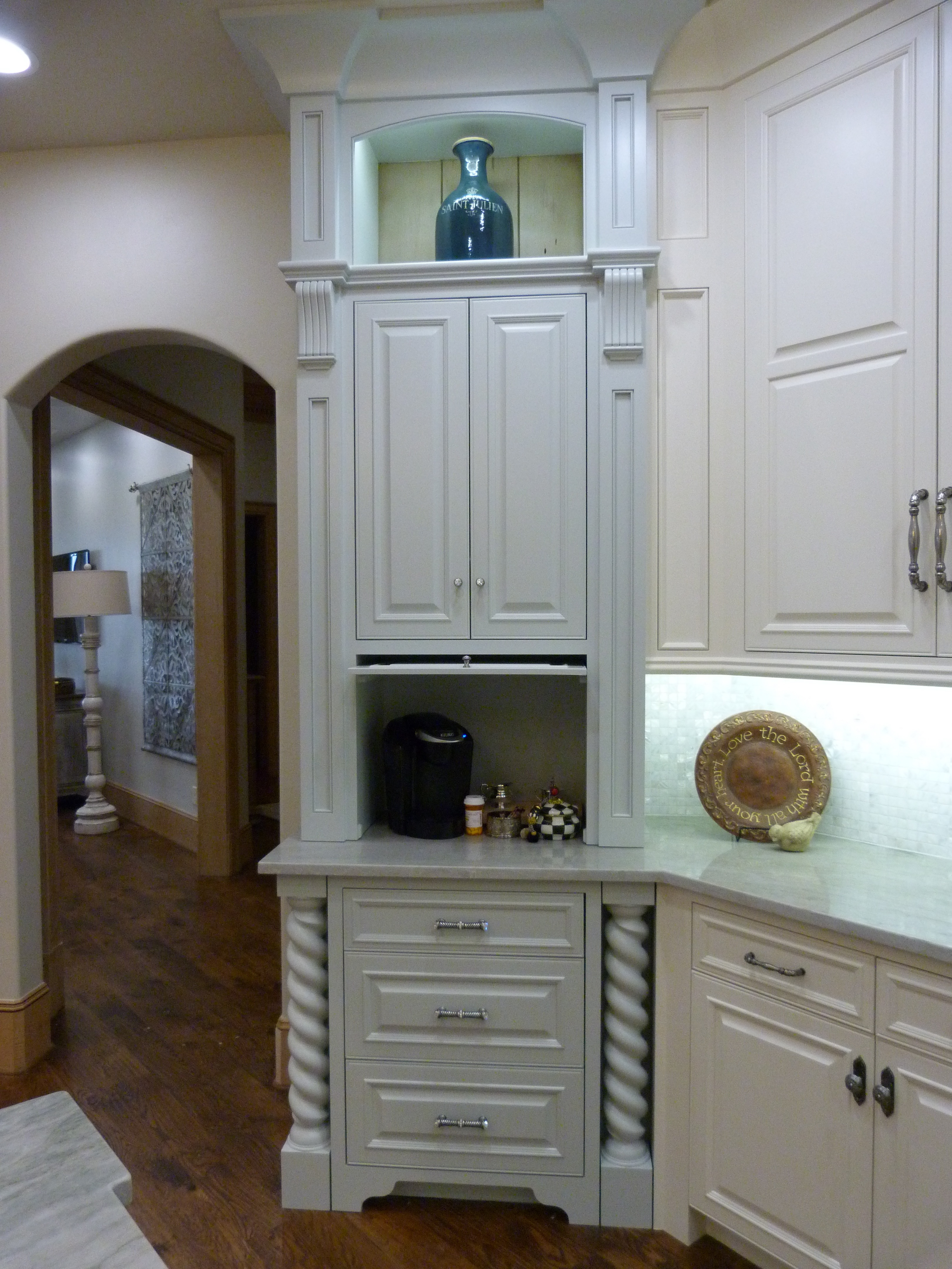 White Kitchen Cabinets That Go To The Ceiling From Majestic Construction Remodel