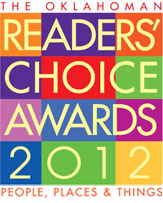 Logo for Majestic's 2012 Reader's Choice Award for being outstanding contractors in Oklahoma City