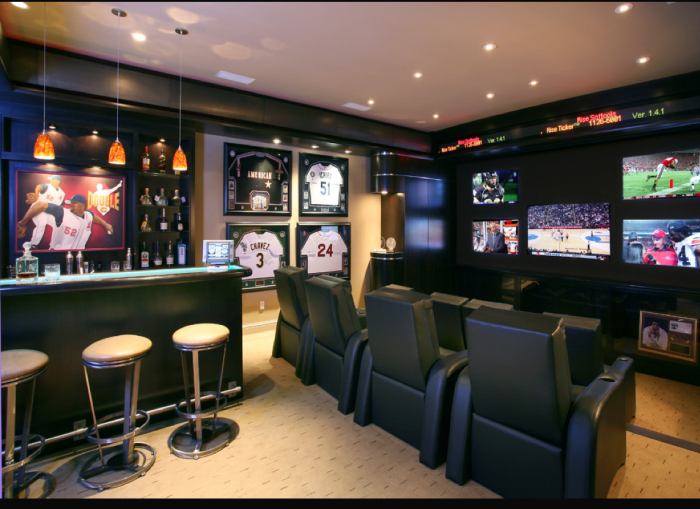 man cave for baseball fans