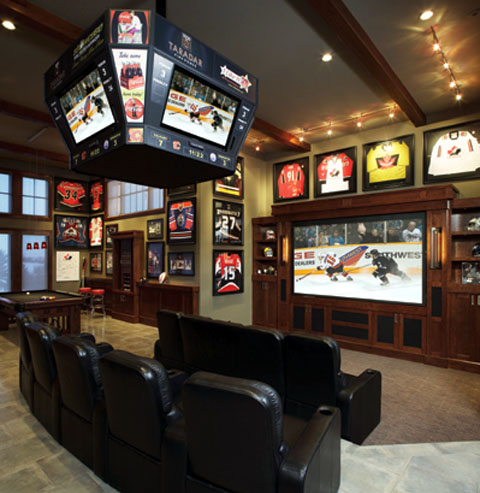Man Caves For Sports Fanatics Majestic Construction Majestic