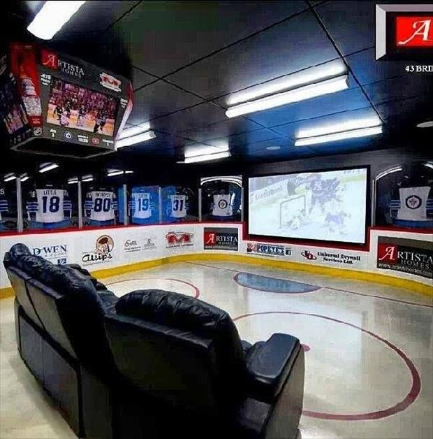 man caves for hockey fans