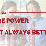"Cover photo Tips & Tricks More Power Isn't Always Better from the ""Tim The Tool Man Taylor"" blog"
