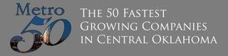 Logo for Majestic's Metro 50 membership as one of the 50 Fastest Growing Companies in Central Oklahoma